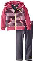 PUMA Little Girls' Stripe Raglan Set Toddler