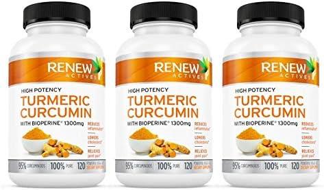 Double Strength Turmeric Black Pepper Capsules 2 Month Supply 1300mg Non-GMO Turmeric Curcumin w Bioperine. Benefits Anti-inflammatory Anti-Aging. Feel Less Joint Pain in 2 Weeks 3 Packs