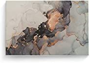 Cuadro Decorativo Textura Mármol Dorada, Canvas para Salas, Decoracion de Interiores Cuadros Modernos Varias M