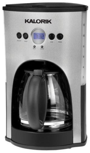 Kalorik 1000-Watt 12-Cup Programmable Coffeemaker, Red