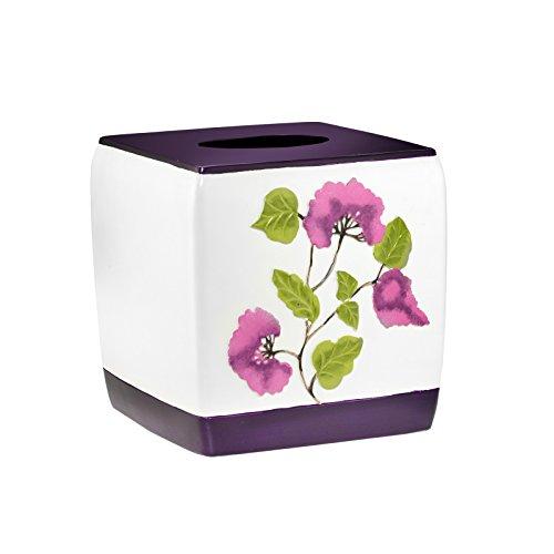 Popular Bath Tissue Box, Jasmine Collection, Plum