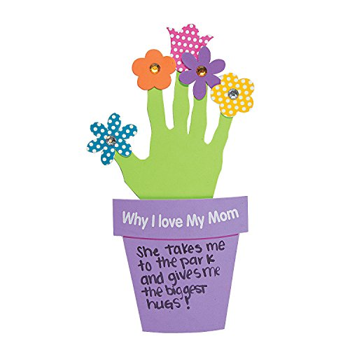 Fun Express Why I Love My Mother Handprint Flowers Gift (Mother's Day Craft Kits) Makes 12 ()