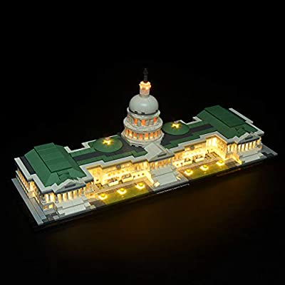 Briksmax Led Lighting Kit For Architecture United States Capitol Compatible With Lego 21030 Building Blocks Model Not Include The Lego Set Amazon Sg Toys Games