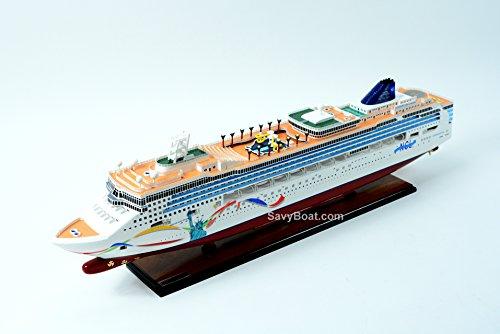 Norwegian Dawn Liberty Statue Handmade Wooden Cruise Ship Model 40