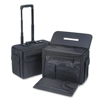 STEBCO 261710BLK Rolling Catalog/Computer Case, Nylon, 18 x 8 x 13, Black (STB261710BLK) by Stebco
