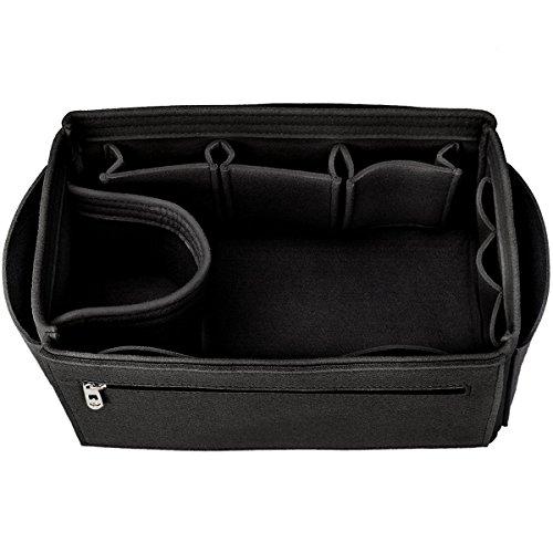 Felt Insert Bag Organizer Bag In Bag For Handbag Purse Tote, Fits Speedy Neverfull, 13 Pockets, 4 Sizes, 5 (Mm Black Handbag)