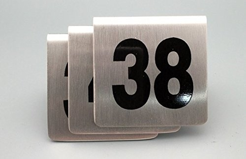 Bent Style Double Side Table Number Table Tent Card Place Cards for Hotel&wedding Reception with Matte Surface Set of Numbers 1 to 50 (1-50) by Generic