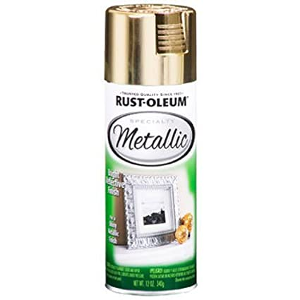 rust oleum 1910830 metallic spray gold 11 ounce spray paints