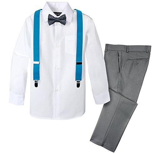 Spring Notion Boys' 4-Piece Dress up Pants Set 12