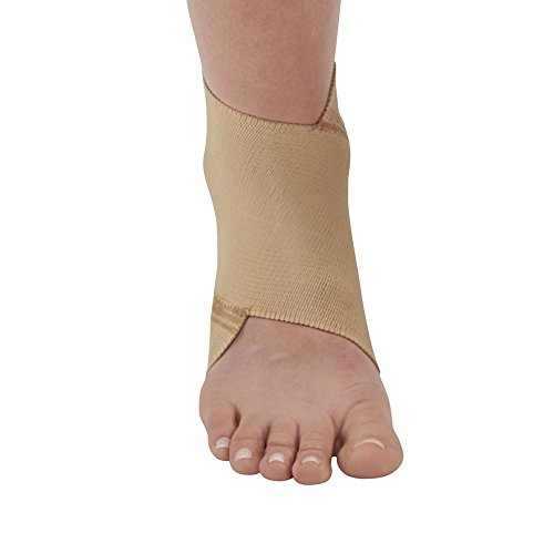 Ames Walker AW Figure 8 Elastic Ankle Support Beige Large – Figure-8 design that conforms to the anatomy of the ankle joint – Support for weakened ankles – Improve circulation to promote healing