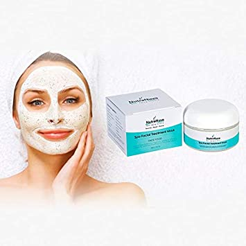 NutraNuva Face Food Natural Anti Aging Spa Facial Mask VEGAN Detoxify, Exfoliate, Nourish, Brighten, Moisturize for Smooth, Soft, Clear, Glowing Skin More Collagen, Fights Acne, Puffiness, 4 oz.