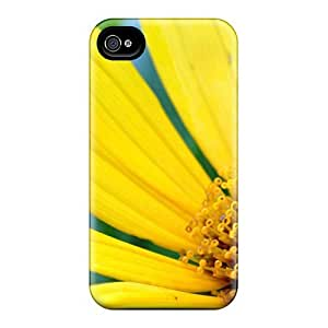 New Fashion Premium Tpu Case Cover For Iphone 4/4s - Large Yellow Daisy With Bee by Maris's Diary