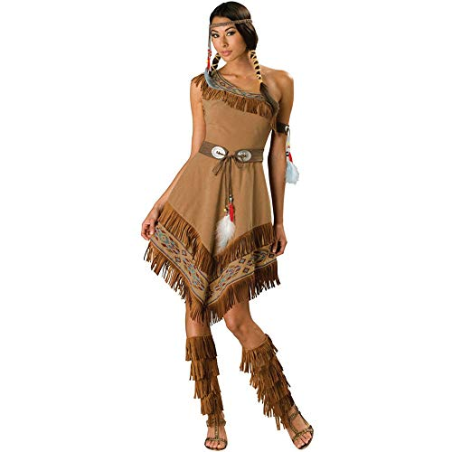 LVLUOYE Halloween Cosplay Costume, Roman Greek Princess Goddess, Indian Horde, Hunter Costume,M]()