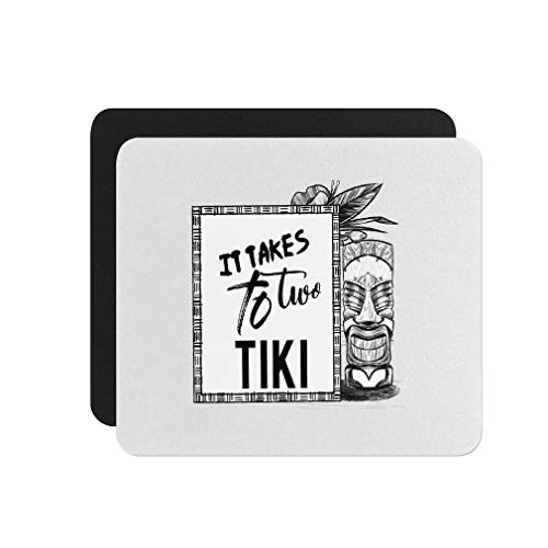 Mouse Pad It Takes Two to Tiki Neoprene Office Mouse Mat - Square Shape
