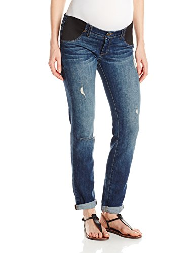 PAIGE Women's Maternity Jimmy Skinny With Elastic Insets, Tawni Destruction, 30