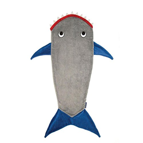 Rong Kids Shark Tail Lap Throw Blanket Bed Kids Soft Sleeping Bag
