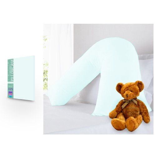 BLACK FRIDAY DEAL 2017 Pure 100% Cotton V Shaped Light Blue Pillowcase Boxify