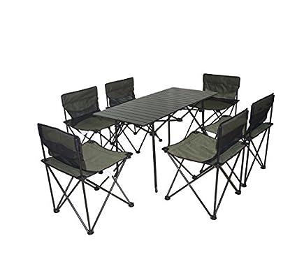 Amazon.com: xd-outdoor Portable plegable Mesa y silla Set ...