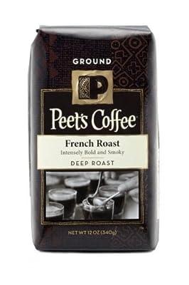 Peet's Coffee French Roast Ground Coffee (Bold), 12 oz