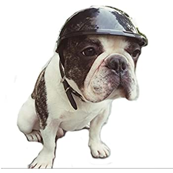 Stock Show Dog Helmet, 1Pc Funny Cool Pet Doggie Motorcycles Bike Helmet Cap Hat for Sun Rain Protection Cats Puppy Cute Helmet Hat Coustume for Small ...