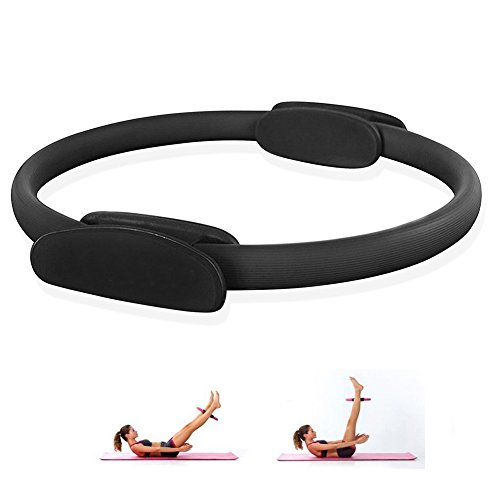 Heckia Pilates Magic Ring, Pilates Resistance Fitness Ring 14'' Exercise Fitness Circle Full Body Toning Ring for Women, Black by Heckia (Image #7)