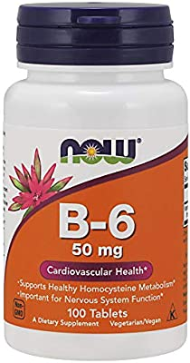 Now Supplements, Vitamin B-6 50 mg, 100 Tablets