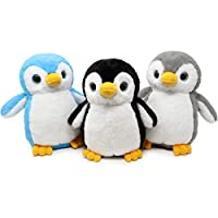 Fluffuns Penguin Plush - Cute Plush Baby Penguin Stuffed Animal Dolls in 3 Colors - 3-Pack of Stuffed Penguin Plush - 9 Inch Height