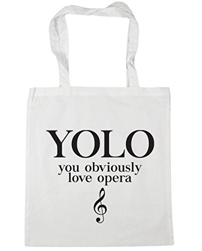 Gym Tote Beach 42cm Bag HippoWarehouse litres Shopping Obviously x38cm White Opera YOLO 10 Love You 8F4q0