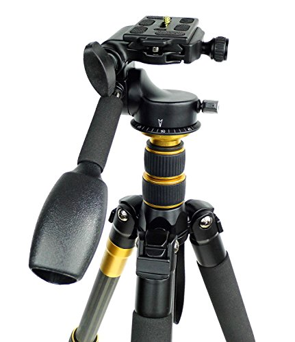 Koolehaoda Q-666c Portable Carbon Tripod Monopod Kit & Ball Head Compact Travel for All Canon Sony, Nikon, Samsung,etc . Cameras and Video Camera by koolehaoda