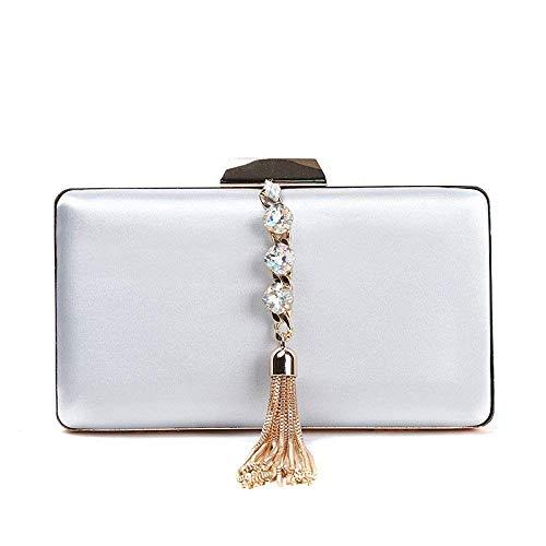 Borla Diseño Eeayyygch Talla Plateado Bolso Mano Para Única De Mujer Dorado Novia q1446XYw