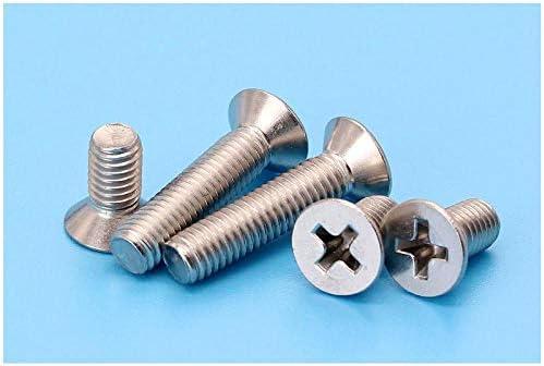 Cross Flat Head Screw 304 Stainless Steel Machine Screw Bolt GB819-M3*30 (1.2K Sticks)