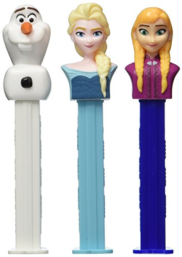 Disney Frozen Pez Candy Rolls & Dispenser Bundle - Set of 3 Characters (Ann, Elsa and Olaf) ()