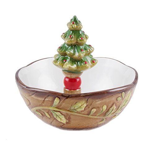 Traditional Christmas Tree Candy Bowl