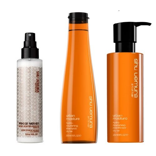Shu Uemura Art of Hair Urban Nation Shampoo (300ml) and Conditioner (250ml) PLUS WONDER WORKER SET by Unknown
