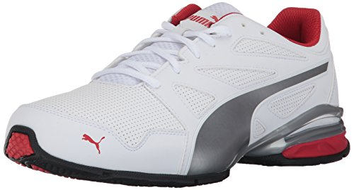 PUMA Mens Tazon Modern SL FM Sneaker Puma White-high Risk Red