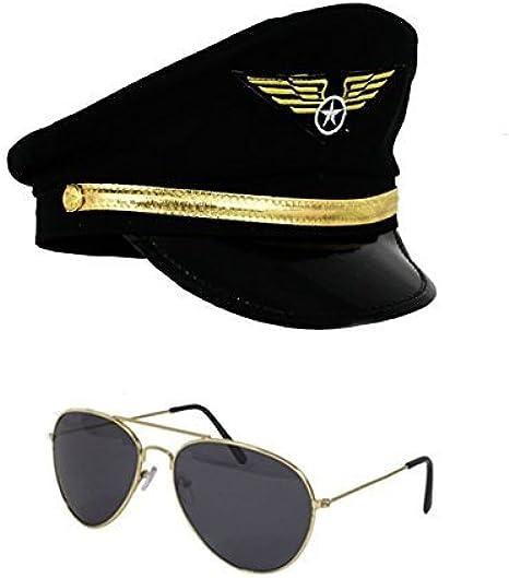 Airline Pilot Hat Mens Stag NIght Novelty Fancy Dress Accessory Captains Hat