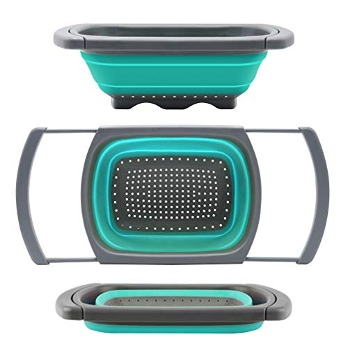 Qimh Collapsible Colander with Extendable Handles – 6 qt.