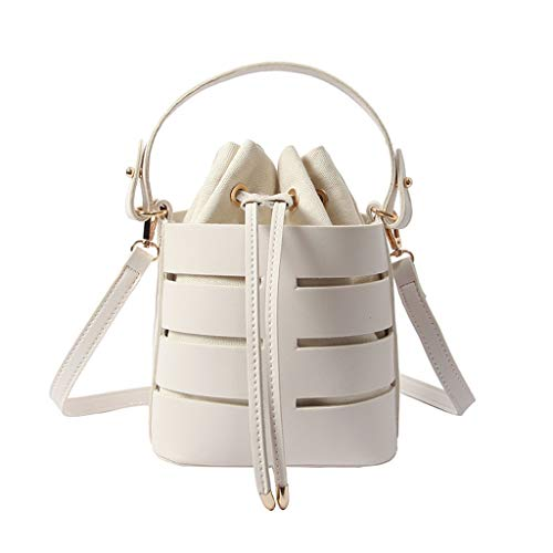 Goddessvan Crossbody Women's Fashion Hollow Shoulder Bag Multi-Function Bag Multi-Layer Handbag Messenger Bags White