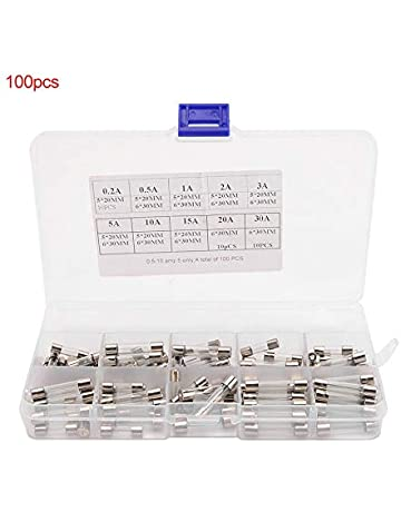 100 Unids/lote 5x20mm 6x30mm Surtido de Fusible Fusible Juego de fusibles de tubo de