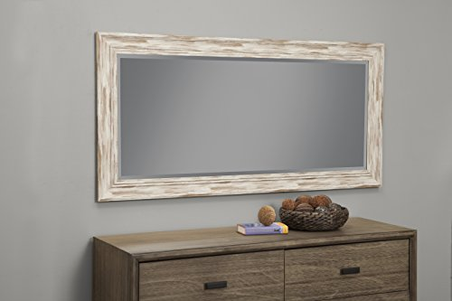 Sandberg Furniture Farmhouse, Full Length Leaner Mirror, Antique White Wash by Sandberg Furniture (Image #3)