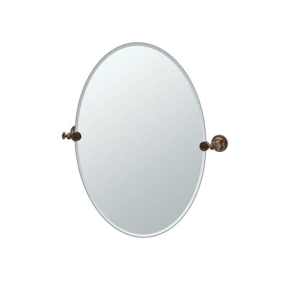 Gatco 4039 Tavern Oval Mirror Bronze