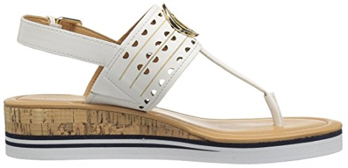 Women's Hilfiger White Sandal Peak Tommy Wedge SHqBw5