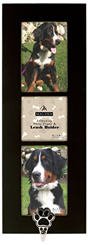 Malden International Designs Pet Hook Die Cast Paw 3 Opening Collage Black Picture Frame, 2-4 by 6-Inch by Malden International Designs