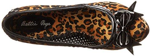 Bettie Page Womens BP517-Ginger Platform Pump Leopard tJsIA0D1Cl