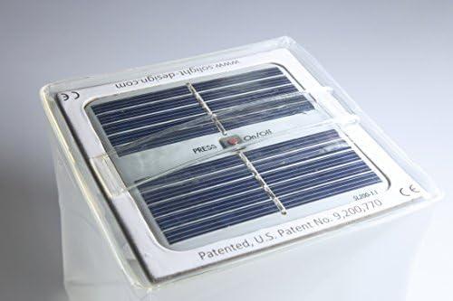 Solight Design Solarlampe neutral wei/ß mit roter SOS Funktion W/ürfel Form mit Griff Twilight LED Solarleuchte faltbar