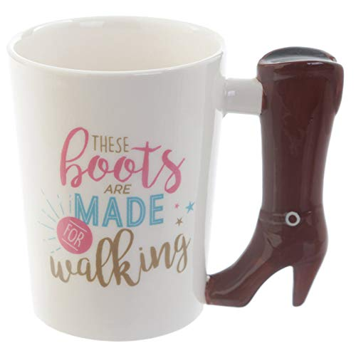 (Naktdh Boots, Cups, New Painted Pottery, Boots, Cups, High Heels, Ceramic Cups, Personalized Boot Handles,- 400Ml)
