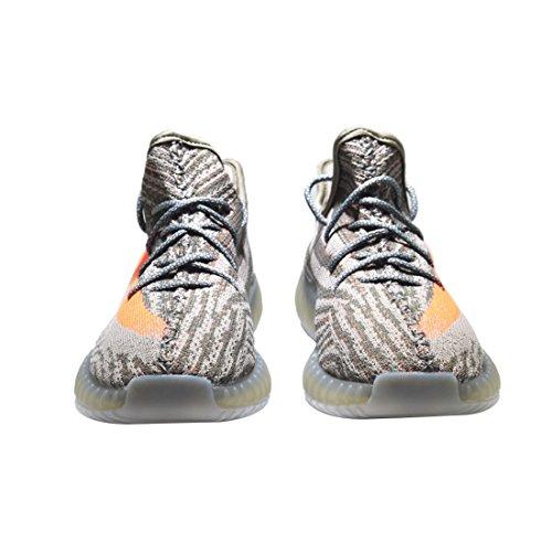 Yaoxi Stimuler 350 V2 Hommes Femmes Chaussures Tissé En Mesh Respirant Chaussures Mode Casual Chaussures Fitness Course Unisexe Gris Orange
