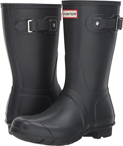 Hunter Boots Women's Original Short Classic Rain Boot Dk Slate 7 M US by Hunter