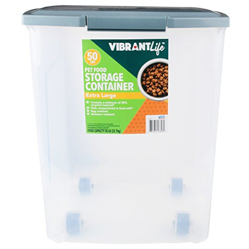 Food Storage Container Reviews (Vibrant Life Pet Food Storage, 50 lb, Keeps Bugs Out)