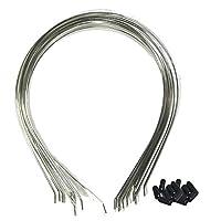 Gcircus 20pcs DIY Silver Colored Metal Headband Metal Children Hair Band Frames 5x6 Inch 5mm Wide+ 40pcs Protect-cap